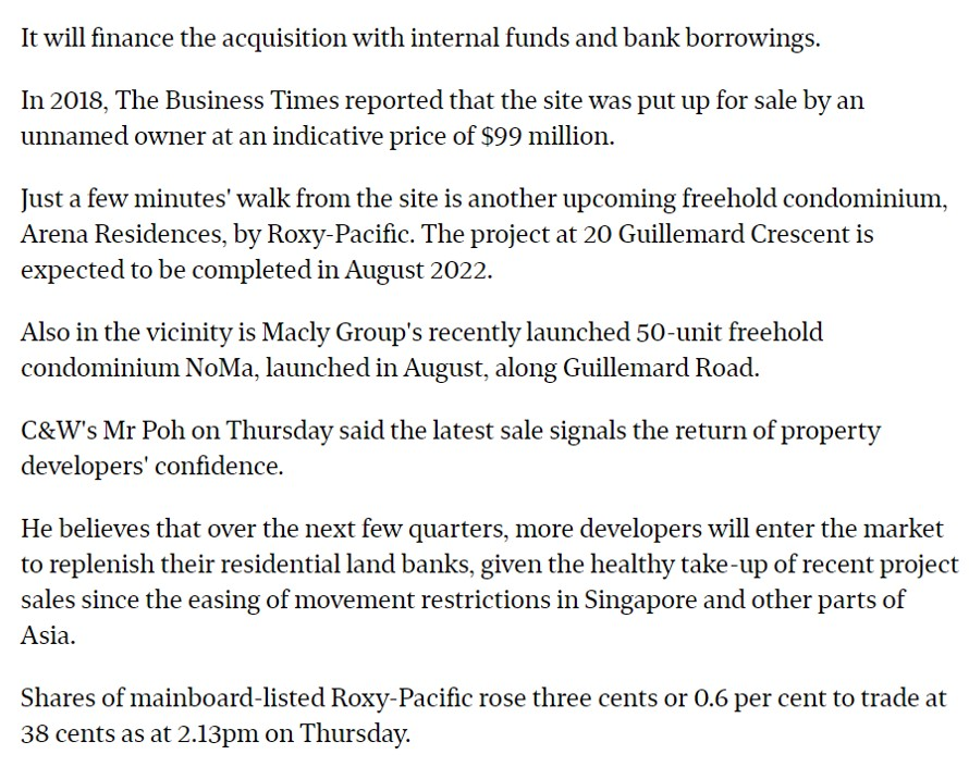Roxy-Pacific-To-Buy-Guillemard-Residential-Site-For-$93-Million-5